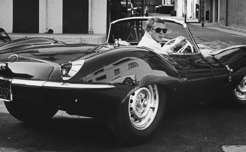 Actor Steve McQueen driving in a sports car in California, June 1963.  (Photo by John Dominis//Time Life Pictures/Getty Images)
